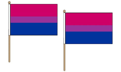 Bisexual Hand Flags ( pack of 2 )