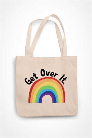 Get Over It- Rainbow Totebag