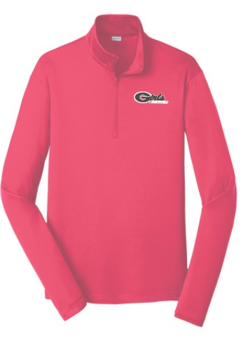 quarter zip perfomance pullover, gafastpitch softball