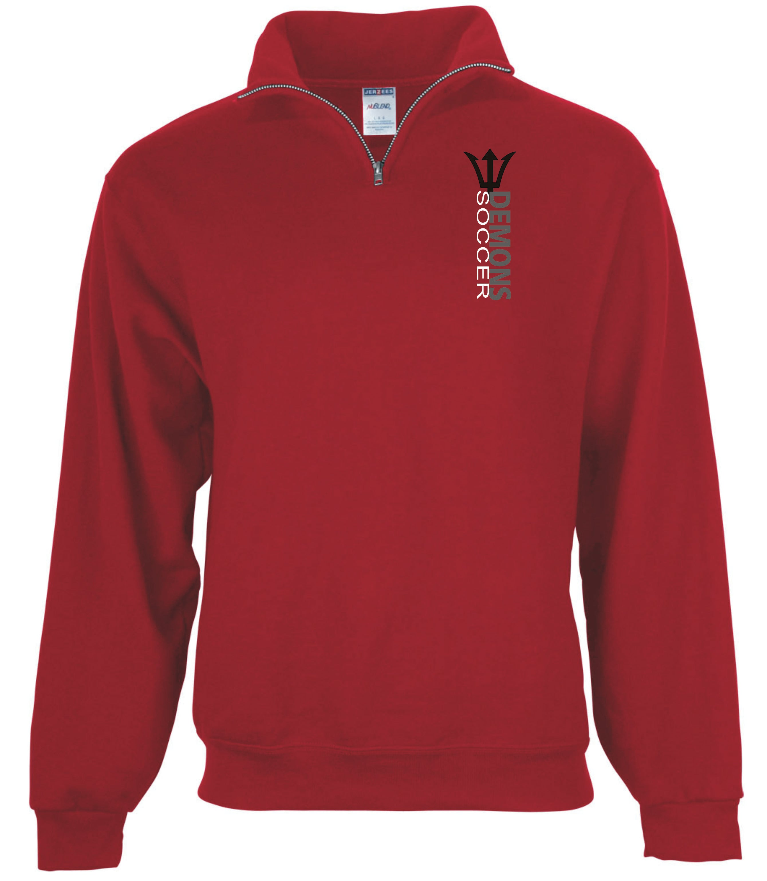 Team quarter zip sweatshirt, demons soccer quarter zip