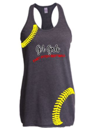 ga girls faastpitch softball tank
