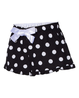 polka dot or plaid ruffled boxer shorts