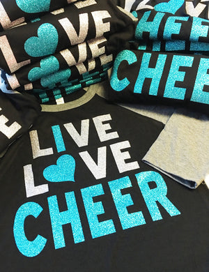 Live Love Cheer shirt, cheer team shirt