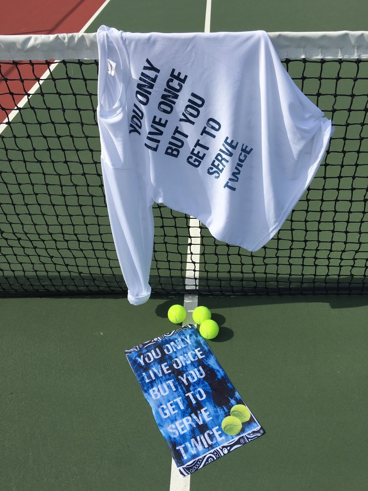 Tennis towel, tennis graphic towel