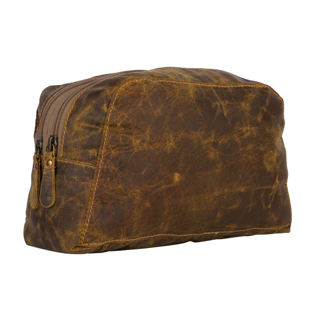 Men's toiletry bag, leather toiletry bag