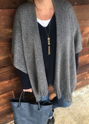gray-open-poncho-with-fringe