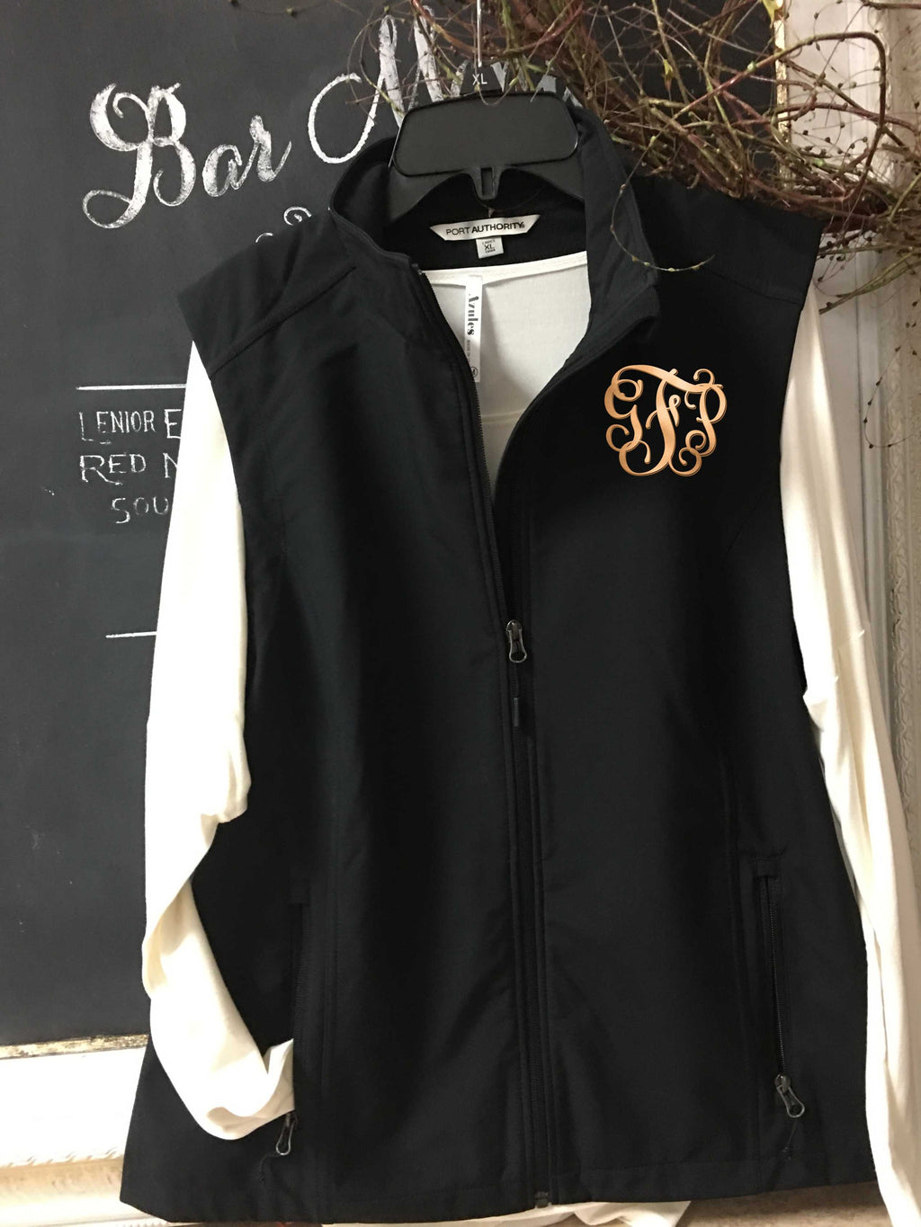 Monogram core vest, ladies soft shell vest