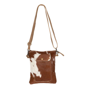 Leather crossbody purse