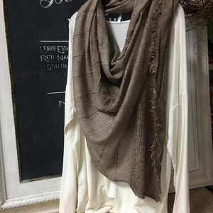 Brown boho fashion scarf