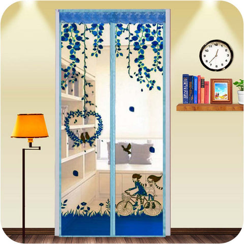 Colorful Magnetic Mesh Screen Doorway Mosquito Net