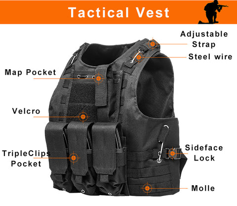 Tactical Military Plate Carrier Vest