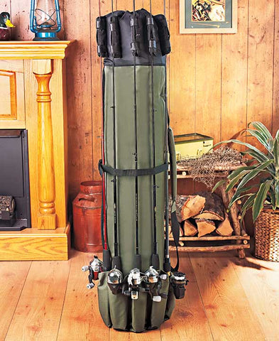Fishing Tackle Pole Backpack Rod Holder