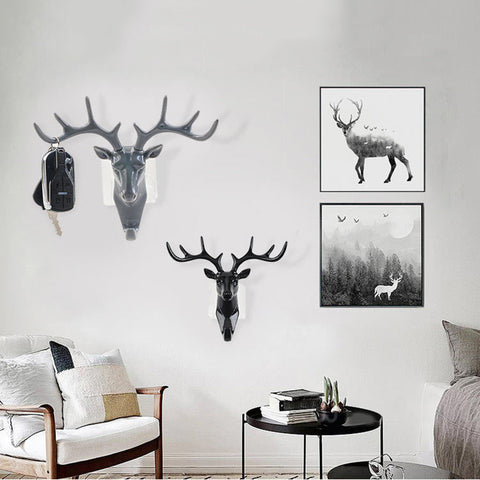 Deer Head Key Holder Hooks For Wall