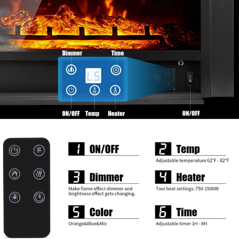 indoor electric fireplace insert