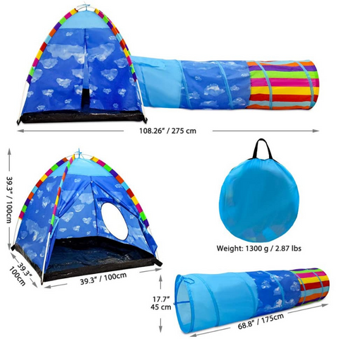 play tent and tunnel