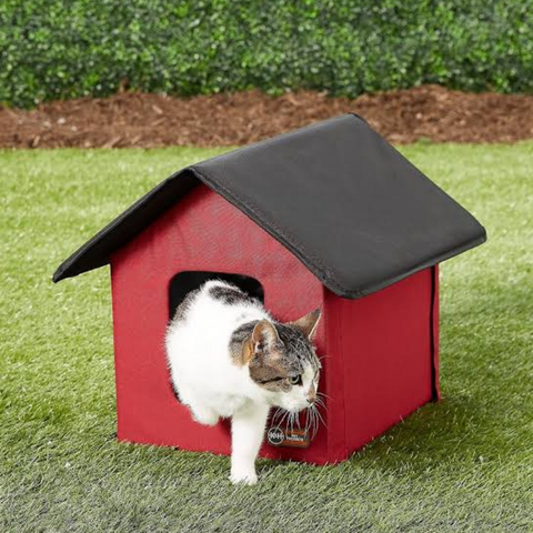 best heated cat house