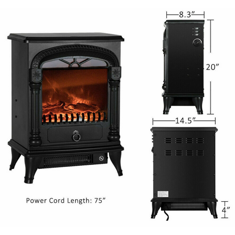 free standing electric fireplace heater
