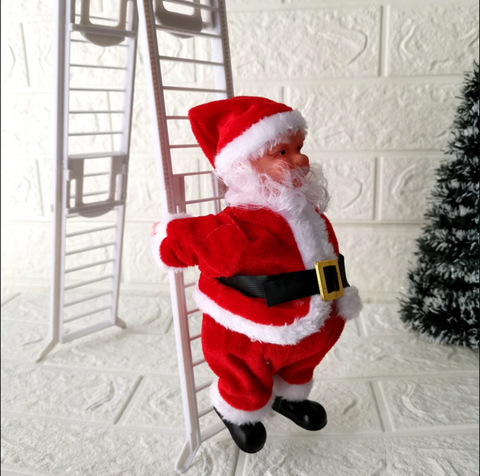 Climbing Santa Ladder Christmas Toy