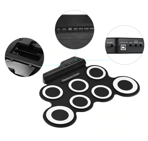 Electronic Drum Pad Kit Set