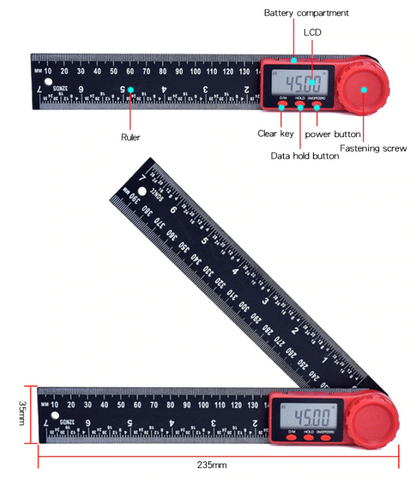 Digital Angle Finder Protractor Tool