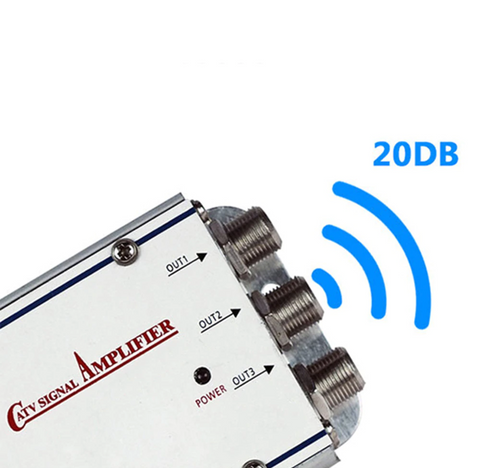 20dB TV Antenna Booster Cable Signal Amplifier