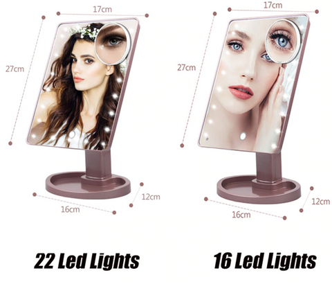 Lighted Magnifying Makeup Mirror Countertop Vanity 10X Zoom