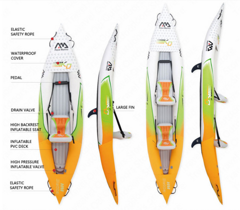 Heavy Duty Inflatable Blow Up Kayak