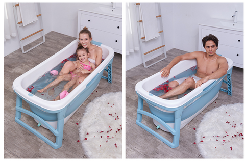 Extra Large Foldable Stand Alone Bathtub For Adults
