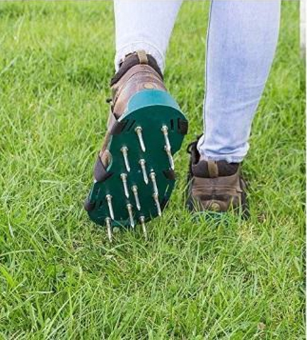 Premium Manual Lawn Spike Aerator Shoes
