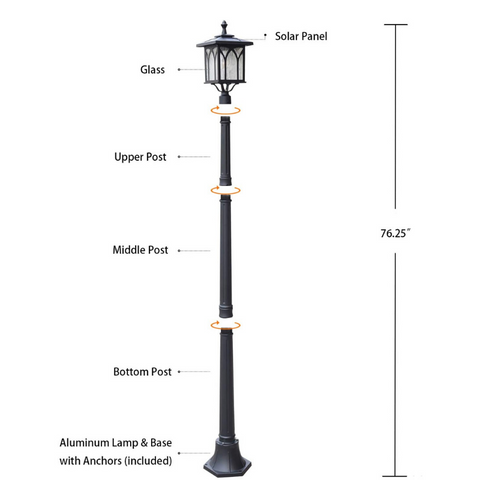 outdoor pole light