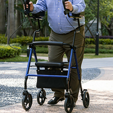 Load image into Gallery viewer, Premium Standing Upright Senior Walker With Seat