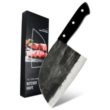 Load image into Gallery viewer, Hand Forged Serbian Meat & Vegetable Cleaver Knife