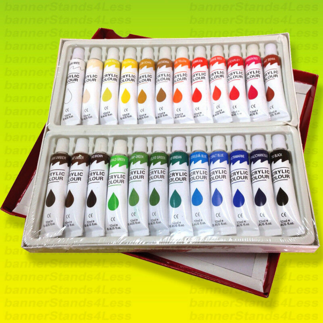 Premium Acrylic Paint Set Kit 24 pcs