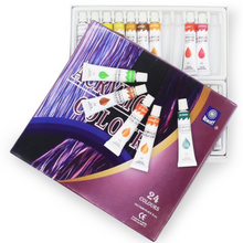 Load image into Gallery viewer, Premium Acrylic Paint Set Kit 24 pcs