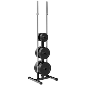 Heavy Duty Weighted Bumper Plate Storage Tree Rack 2""