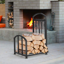 Load image into Gallery viewer, Premium Heavy Duty Firewood Log Holder Rack 27.5in
