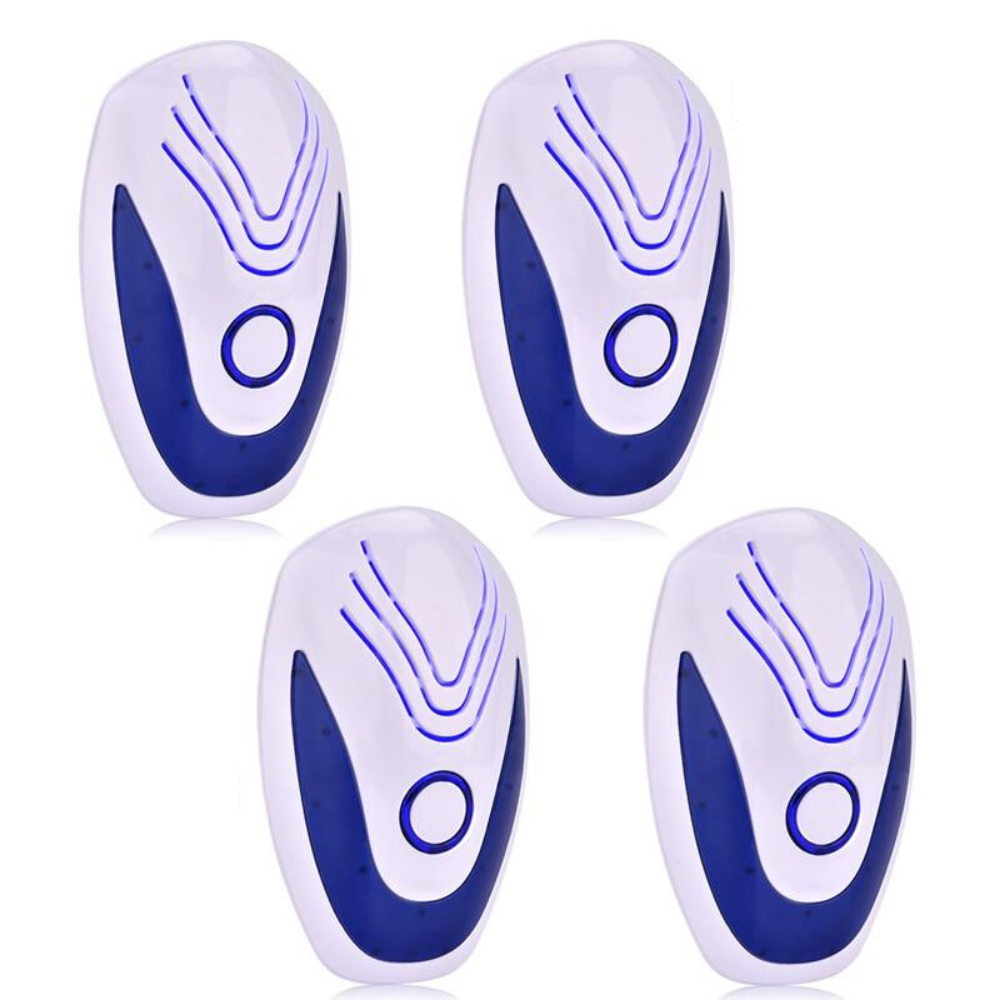 Ultrasonic Bugs Insect Indoor Pest Repellent - 4 Pack | Zincera