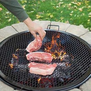 Outdoor Round Fire Pit Cooking Grill Grate | Zincera
