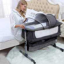 Load image into Gallery viewer, Deluxe Baby Bedside Bassinet Sleeper Crib | Zincera