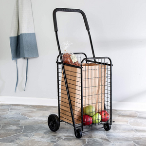 Portable Folding Personal Grocery Shopping Cart With Wheels | Zincera