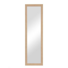 "Load image into Gallery viewer, Natural Over Door Mounted Hanging Mirror 42"" x 14"" 