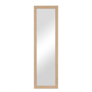 "Natural Over Door Mounted Hanging Mirror 42"" x 14"" 