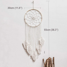 Load image into Gallery viewer, Large Authentic Woven Native American Dream Catcher 36"