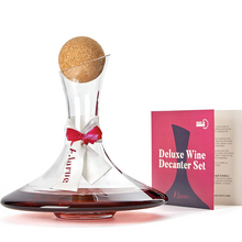 Load image into Gallery viewer, Unique Glass Wine Decanter Set | Zincera