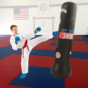 Premium Inflatable Free Standing Punching Bag 62 in | Zincera
