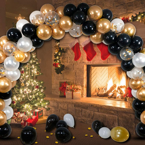 Gold Balloon Arch Garland Stand Kit 120pcs | Zincera