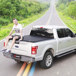 Retractable Pickup Truck Roll Up Tonneau Tri Fold Bed Cover 5.6 FT