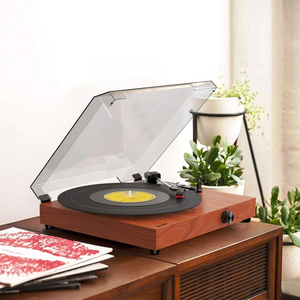 Portable Wooden Retro Bluetooth Vinyl Record Player