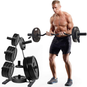 Heavy Duty Bumper Plate Storage Weight Tree Rack