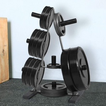 Load image into Gallery viewer, Heavy Duty Bumper Plate Storage Weight Tree Rack